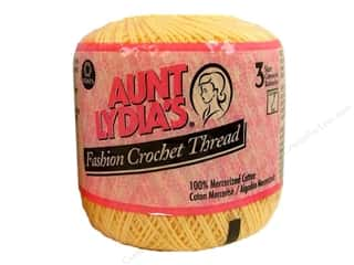 Threads $3 - $4: Aunt Lydia's Fashion Crochet Thread Size 3 #423 Maize