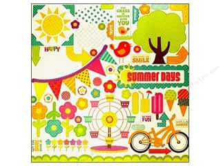 theme stickers  summer: Echo Park Sticker 12x12 Summer Days Elements (15 sheets)