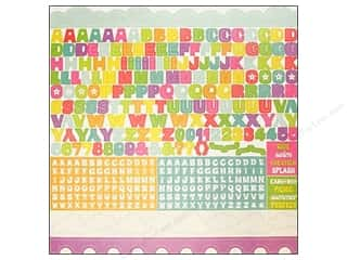 Echo Park Sticker 12x12 Summer Days Alphabet (15 sheets)