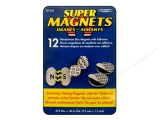 "Magnets: The Magnet Source Magnet Neodymium Adhesive Disc 3/8"" 12pc"
