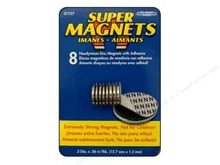 "The Magnet Source Magnet Neodymium Adhesive Disc 1/2"" 8pc"