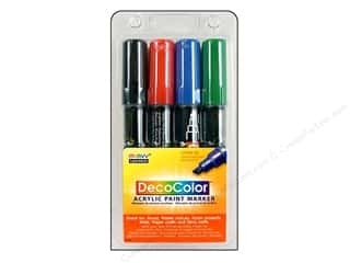 Weekly Specials EZ Acrylic Templates: Uchida DecoColor Acrylic Paint Pen Set Primary 4pc