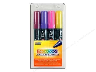 Uchida DecoColor Acrylic Paint Pen Set Bright 4pc