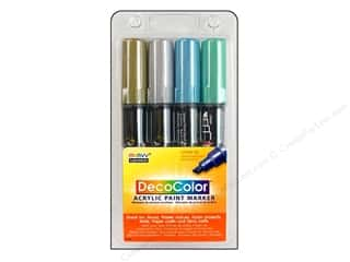 Weekly Specials EZ Acrylic Templates: Uchida DecoColor Acrylic Paint Pen Set Metallc 4pc