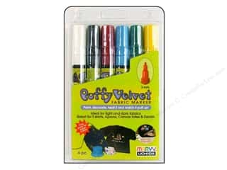 Uchida Fabric Markers Puffy Velvet Set Primary 6pc