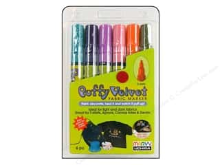 Uchida Fabric Markers Puffy Velvet Set Bright 6pc