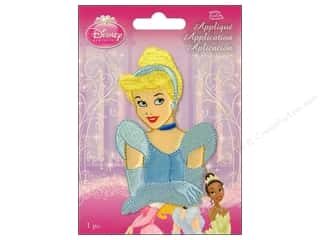Wrights Embroidered Appliques: Simplicity Disney Iron On Appliques Small Cinderella