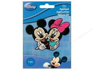 Wrights Embroidered Appliques: Simplicity Disney Iron On Appliques Small Mickey & Minnie Couple