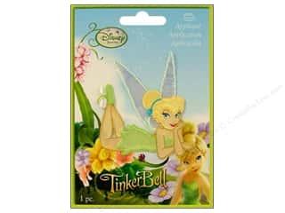Wrights Embroidered Appliques: Simplicity Disney Iron On Appliques Small Tinker Bell Kickin' It