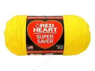 Red Heart Super Saver Jumbo Yarn Bright Yellow 14 oz.