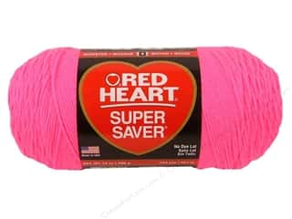 Red Heart Super Saver Jumbo Yarn Pretty N Pink 14 oz.