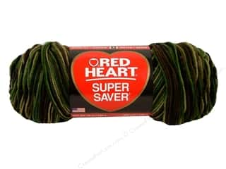 Red Heart Super Saver Jumbo Yarn #0971 Camouflage 10 oz.