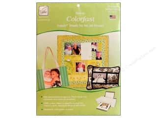 June Tailor Inkjet Fabric Sheet Colorfast Wht 25pc