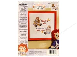 Weekly Specials Bucilla Beginner Cross Stitch Kit: Bucilla Xstitch Kit Birth Record Raggedy A&A