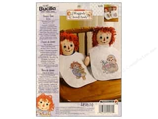 Weekly Specials Petaloo Expressions Collection: Bucilla Xstitch Kit Bibs Raggedy A&A 2pc