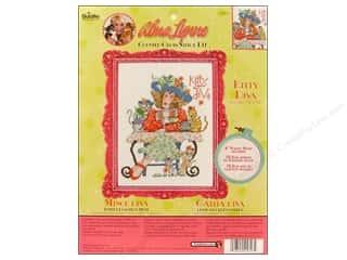 Weekly Specials Bucilla Beginner Cross Stitch Kit: Bucilla Xstitch Kit Alma Lynne Kitty Diva