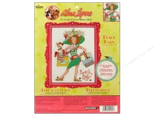 Bucilla Counted Cross Stitch Kit Alma Lynne Beach Baby