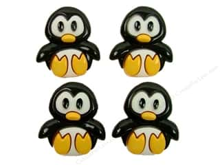 button Jesse James Buttons: Jesse James Dress It Up Embellishments Playful Penguins