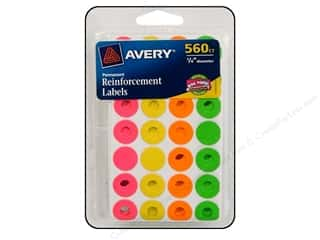 sticker: Avery Reinforcement Labels 560 pc. Neon