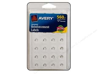 Labels: Avery Reinforcement Labels 560 pc. White