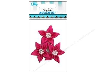 Offray Ribbon Accent Lily Hot Pink 3pc