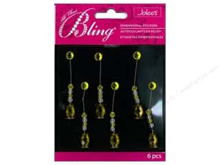 EK Jolee's Stickers Bling Swing Yellow Radiant