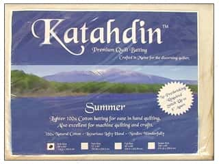 Cotton batting: Bosal Cotton Batting 45 x 60 in. Katahdin Summer 3 oz.