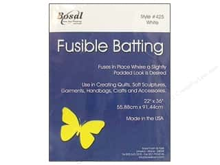 "Polyester batting: Bosal Batting Fusible Poly 22x36"" Pkg 6.75oz Wh"