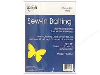 "Polyester batting: Bosal Batting Sew In Poly 45""x36"" Pkg 4.2oz White"