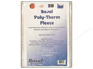 "Polyester batting: Bosal Fleece Polytherm 100% Poly 31x36"" White"