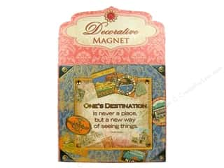 Gifts Punch Studio Journal: Punch Studio Decorative Magnet Destination