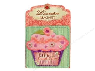 Magnets Flowers: Punch Studio Decorative Magnet Eat Well Laugh Often