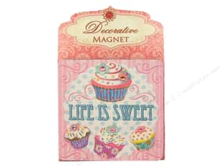 Magnets: Punch Studio Decorative Magnet Life Is Sweet