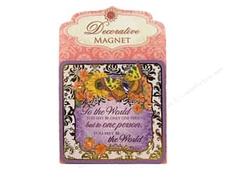 Gifts Burgundy: Punch Studio Decorative Magnet To The World