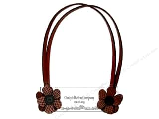 Cindys Button Purse Strap Miss Plaid 24&quot; Choc Chry