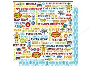 Toys Blue: Best Creation 12 x 12 in. Paper Robot Collection Boys & Their Toys (25 sheets)