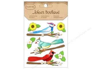 Jolee's Boutique Stickers Parcel Colorful Fuzzy Birds