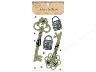 EK Success Dimensional Stickers: Jolee's Boutique Stickers Large Parcel Glitter Locks & Keys