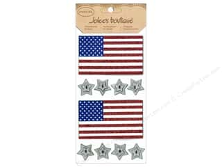 Jolee's Boutique Stickers Large Glitter Flags & Stars