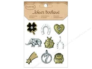 stickers  -3D -cardstock -fabric: Jolee's Boutique Stickers Parcel Lucky Charms