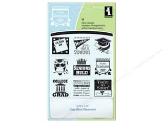 stamp block: Inkadinkado Clear Stamp Inchies Graduation