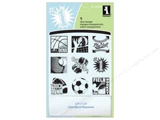 Inkadinkado InkadinkaClings Clear Stamp Inchies Sports