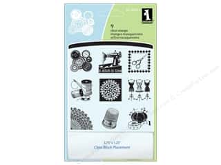 vintage rubber stamping: Inkadinkado InkadinkaClings Clear Stamp Inchies A Stitch In Time