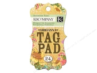 Graphic 45 String Tags: K&Company Tag Pad Abrianna