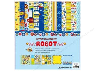 chipboard 12x12: Best Creation Glitter Collection Kit 12x12 Robot