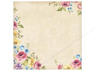 K & Company Vellum & Specialty Papers: K&Company Paper 12x12 Watercolor Bouquet Garden Glitter Treasures (12 sheets)