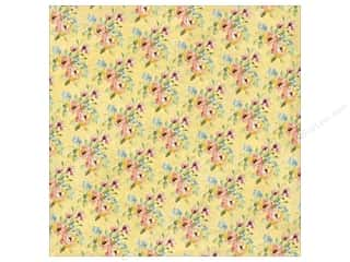 K&Co Paper 12x12 Watercolor Bouquet Yellow Blossom (25 sheets)