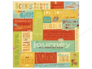 Scenics Tan: K&Company Paper 12x12 Brenda Walton Around The World Foil Phrases (12 sheets)