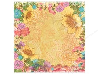 K&Co Paper 12x12 Abrianna Boho Foil Collage (12 sheets)