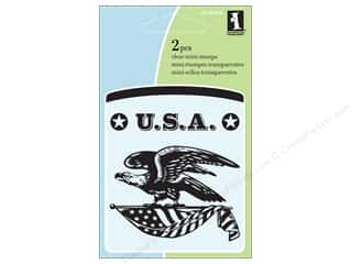 Scrapbooking & Paper Crafts  Stamps  Rubber Stamp: Inkadinkado Clear Stamp Mini Patriotic Eagle